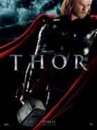 Thor looking down poster