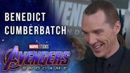 Benedict Cumberbatch on working with the Russo Brothers LIVE on the Avengers Endgame Red Carpet