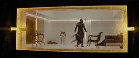 Loki empuja los muebles de su celda