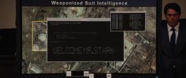 Tony Stark manipulando las pantallas del senado - Iron Man 2
