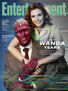 Wanda and Vision on EW Cover