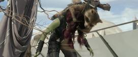 Rocket ataca a Gamora
