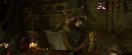 Rocket y Groot le rinden homenaje a Yondu