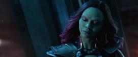 Gamora de 2014 informa sobre la última orden de Thanos