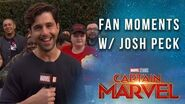 Josh Peck finds the biggest Captain Marvel fans at the Red Carpet Premiere