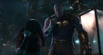 Thanos confrontado por Gamora
