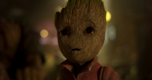Groot en la nave de los Devastadores