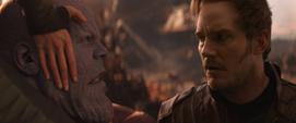 Quill descubre que Thanos asesinó a Gamora