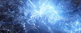 Thor golpea el suelo con el Rompetormentas