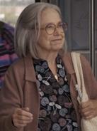 Older Lady on Train