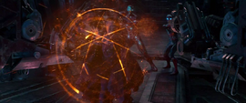 Strange protege a Stark y Parker en la nave