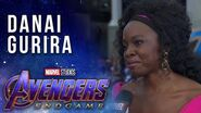 Danai Gurira talks working with the surviving Avengers LIVE from the Avengers Endgame Premiere
