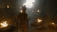 Groot ve que la nave está dañada