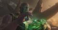 Thanos inserta la Gema del Tiempo en su Guantelete