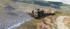 Rhodes le lanza bombas a los Outriders