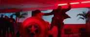 Batroc kicks Captain America