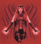 Wanda in Scarlet Witch Costume Promotional Concept Art 05
