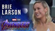 Brie Larson talks Captain Marvel joining the team LIVE from the Avengers Endgame Premiere
