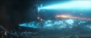 Potts Shuri y Hope le disparana Thanos