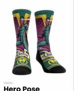 Vision Hero Pose socks on WandaVision Merchandise