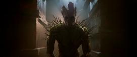 Groot antes de la Batalla de Xandar