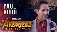 Paul Rudd Live at the Avengers Infinity War Premiere