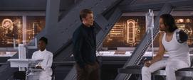 Rogers habla con Bucky en Wakanda