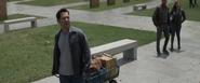 Scott Lang visits Vanished Memorial