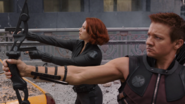 Hawkeye y Black Widow en Batalla de Nueva York