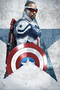 TF&TWS Captain America (Falcon) Textless Poster