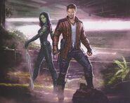 GOTG Vol. 2 concept art Star-Lord and Gamora