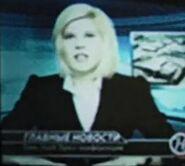 Russian Newscaster