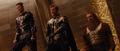 Los Tres Guerreros en la coronacion de Thor