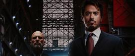 Stark y Stane trabajando en Industrias Stark