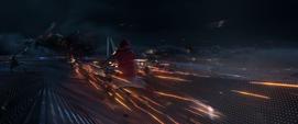 Toomes contra el Hombre Araña afuera del avión - Spider Man Homecoming
