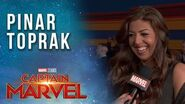 Composer Pinar Toprak on scoring Captain Marvel's story LIVE from the Red Carpet!