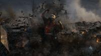 Lang sale de los escombros del Centro de los Nuevos Vengadores