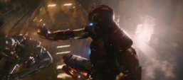 Iron Man confrontando a Ultron