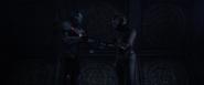 Rhodes y Nebula a punto de abandonar el Templo
