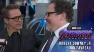 Robert Downey Jr & Jon Favreau talk 10 years of Iron Man at the Avengers Endgame Premiere
