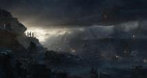 Rogers Stark y Thor varados en las ruinas del Centro de los Nuevos Vengadores