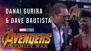 Danai Gurira and Dave Bautista Live at the Avengers Infinity War Premiere