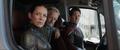 Lang en la camioneta con Hope y Pym