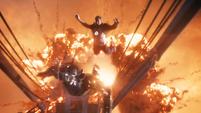 Stark salta de la explosión del Mark 42