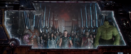 Thor y compañía abandonan Asgard