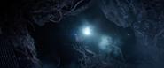 Hawkeye using flashlight