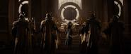 Loki frente al trono de Asgard