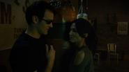 Murdock y Elektra en el gimnasio