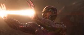 Stark perdiendo contra Thanos