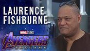Laurence Fishburne on growing up reading Marvel Comics at the Avengers Endgame Premiere